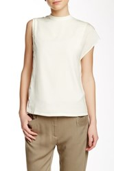 Shades Of Grey One Sleeve Blouse Beige