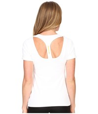 Lole Carys Top White Women's Short Sleeve Pullover