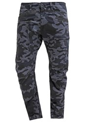 G Star Gstar Powelz 3D Camo Tapered Cargo Trousers Fantem Blue Dark Blue