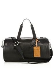 Coach Leather Duffle Bag Black