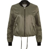 River Island Womens Khaki Green Drawstring Bomber Jacket