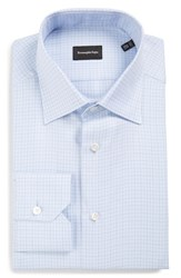 Ermenegildo Zegna Men's Big And Tall Regular Fit Check Dress Shirt Bright Blue