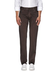 Cotton Belt Trousers Casual Trousers Men Dark Brown