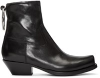 Vetements Black Cowboy Ring Boots