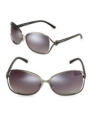 Sam Edelman 64Mm Oval Sunglasses Gunmetal