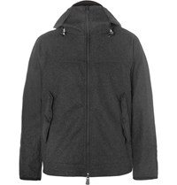 Moncler Grenoble Hell Trimmed Fleece Mid Layer Jacket Charcoal