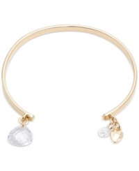 Lonna And Lilly Gold Tone Charm Cuff Bracelet