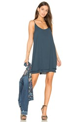 Krisa Double Layer Cami Mini Dress Blue
