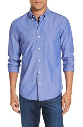 Jack Spade Men's 'Palmer' Trim Fit Long Sleeve Sport Shirt Blue