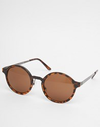 Selected Homme Round Sunglasses Brown