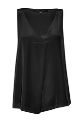 French Connection Sunshine Silk Sleeveless Top Black