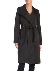 Ivanka Trump Button Front Trench Coat Black