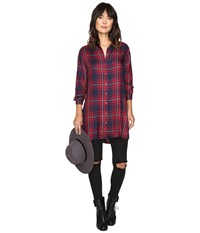 Only June Long Shirt Ketchup Women's Clothing Red