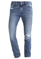 Abercrombie And Fitch Slim Fit Jeans Destroyed Denim