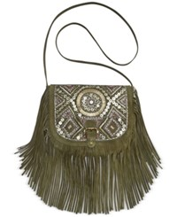 Big Buddha Jsiena Suede Beaded Crossbody