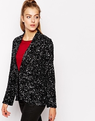 Dress Gallery Sequin Blazer Black