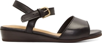 A.P.C. Black Leather Roma Wedge Sandals