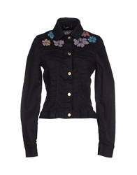 Galliano Denim Outerwear Black
