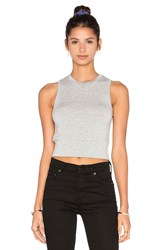 Beautiful People Supersoft Fleece Crop Tank Gray
