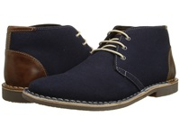 Steve Madden Halloway Navy Fabric Men's Dress Lace Up Boots Blue