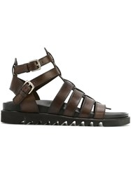Pollini Gladiator Sandals Brown