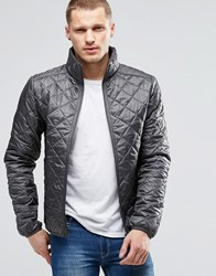 Blend Of America Blend Quilted Jacket Nylon Diamond Stitch In Grey Castlerock Grey