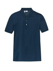 Brioni Short Sleeved Cotton Pique Polo Shirt