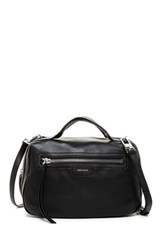 Karen Millen Sporty Collection Leather Bowler Satchel Black