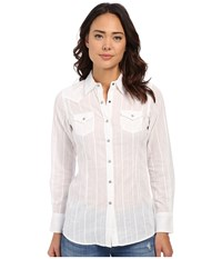 Ariat Roxbury Snap Shirt White Women's Long Sleeve Button Up