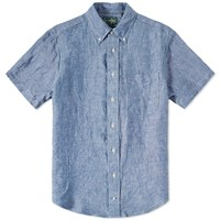 Gitman Brothers Vintage Gitman Vintage Short Sleeve Linen Chambray Shirt Blue