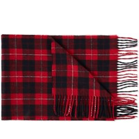 Fred Perry Cunningham Tartan Scarf Red