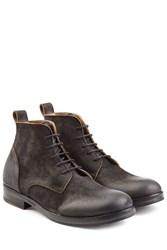 Fiorentini Baker And Distressed Suede Lace Up Boots Black