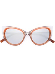 Jil Sander Cat Eye Sunglasses Brown