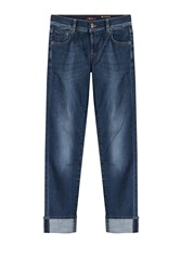 7 For All Mankind Seven For All Mankind Cuffed Straight Leg Jeans Blue