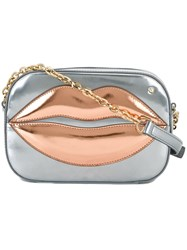 Charlotte Olympia 'Kiss Me' Shoulder Bag Metallic