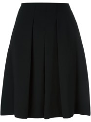 Steffen Schraut Classic Pleated Midi Skirt Black