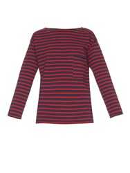 Mih Jeans Slouch Striped Long Sleeved T Shirt