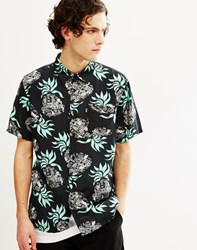 Huf Fantasy Island Short Sleeve Shirt Black