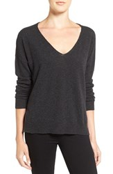Cupcakes And Cashmere Women's 'Annora' Sweater Charcoal Heather Grey