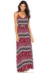 Bishop Young Maxi Dress Burgundy