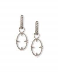 Jude Frances Provence Champagne Open Oval Bezel Earring Charms With Diamonds