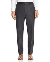 Jack Victor Loro Piana Stretch Flannel Classic Fit Trousers Charcoal