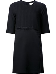 3.1 Phillip Lim Pinstripe Shift Dress Black