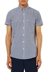 Topman Men's Slim Fit Short Sleeve Gingham Shirt