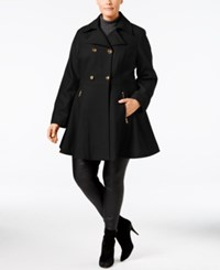 Laundry By Shelli Segal Plus Size Flared Peacoat Black