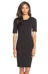 Women's Felicity And Coco Pleat Front Ponte Sheath Dress