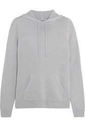 Dion Lee Cutout Cashmere Hooded Sweater Light Gray