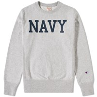 Champion Reverse Weave Navy Crew Sweat Grey