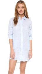 Solid And Striped The Linen Shirtdress Light Blue