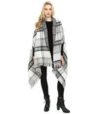 Echo Double Face Plaid Wrap Black Women's Clothing